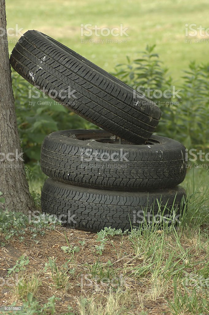 Junk - Tires royalty-free stock photo