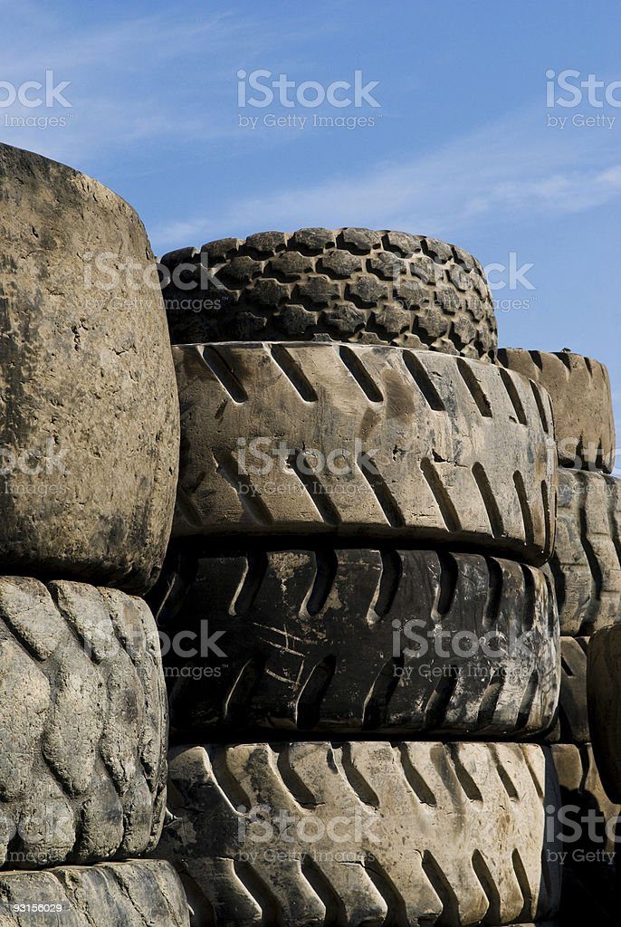 Junk Tires royalty-free stock photo