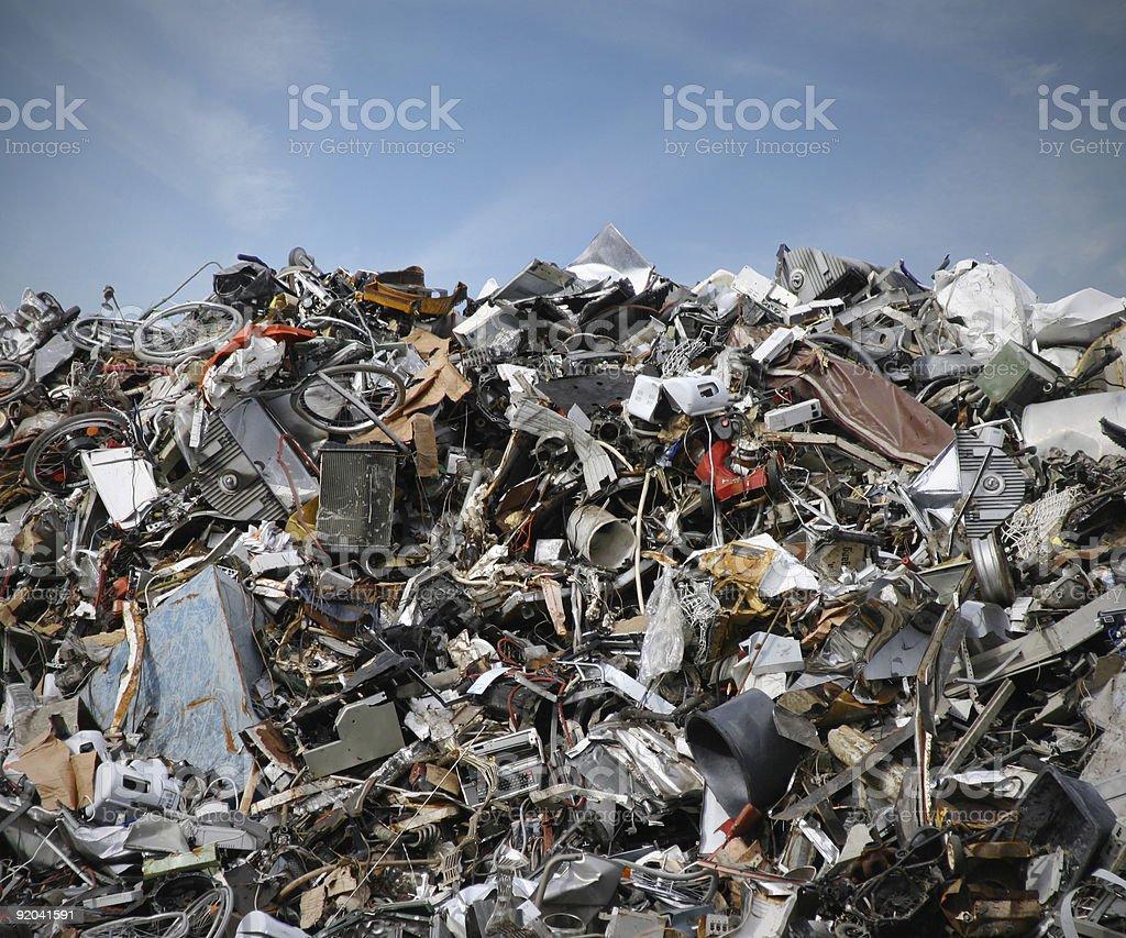 junk yard stock photo