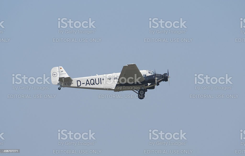Junkers Ju-52 royalty-free stock photo