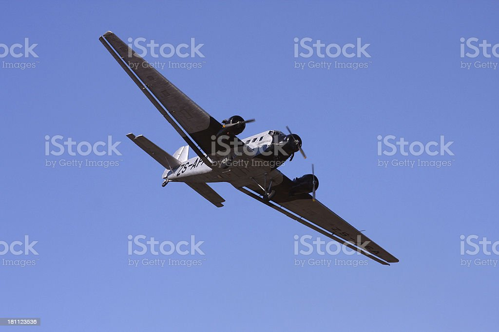 Junkers ju52m or ju53m stock photo