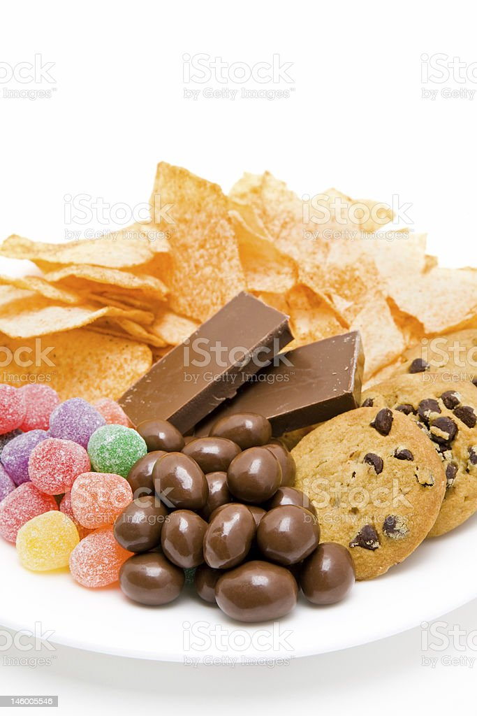 junkfood on plate stock photo