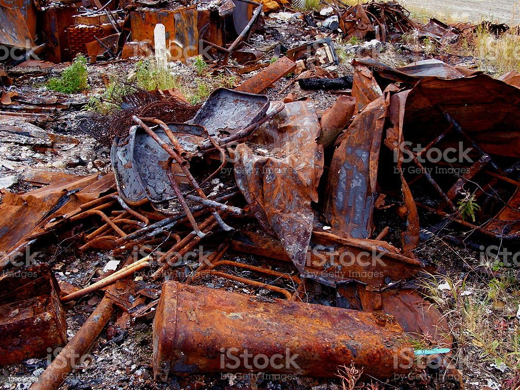 junkyard background royalty-free stock photo
