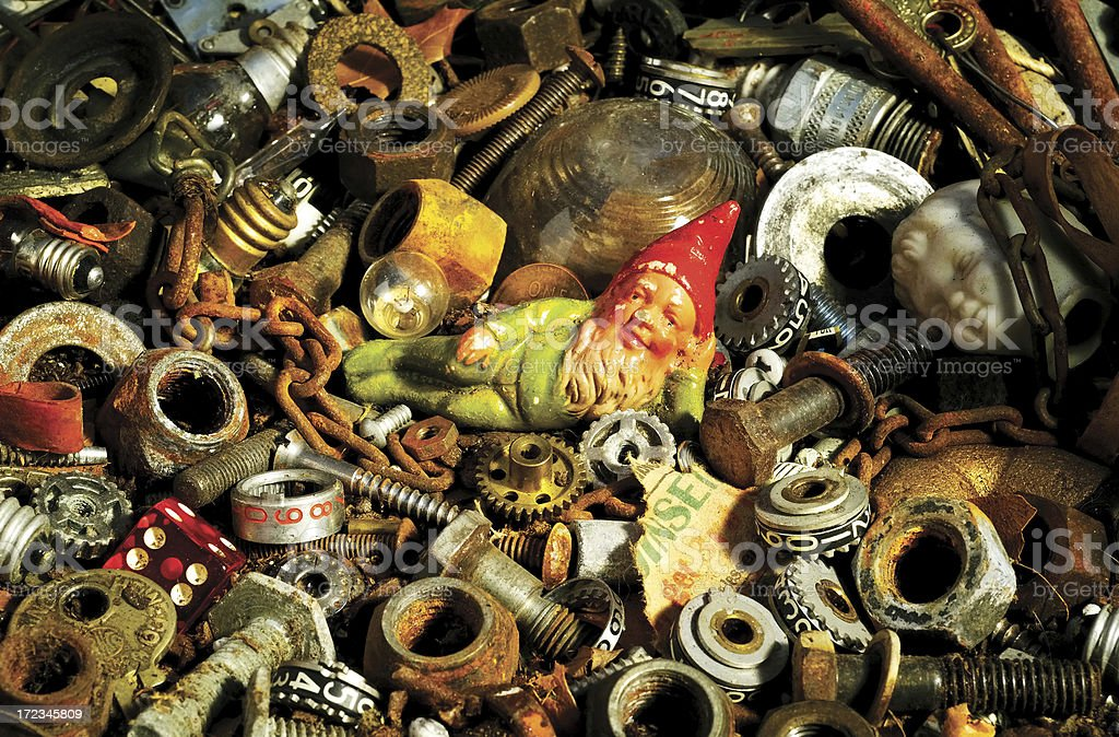 Junkyard Gnome royalty-free stock photo