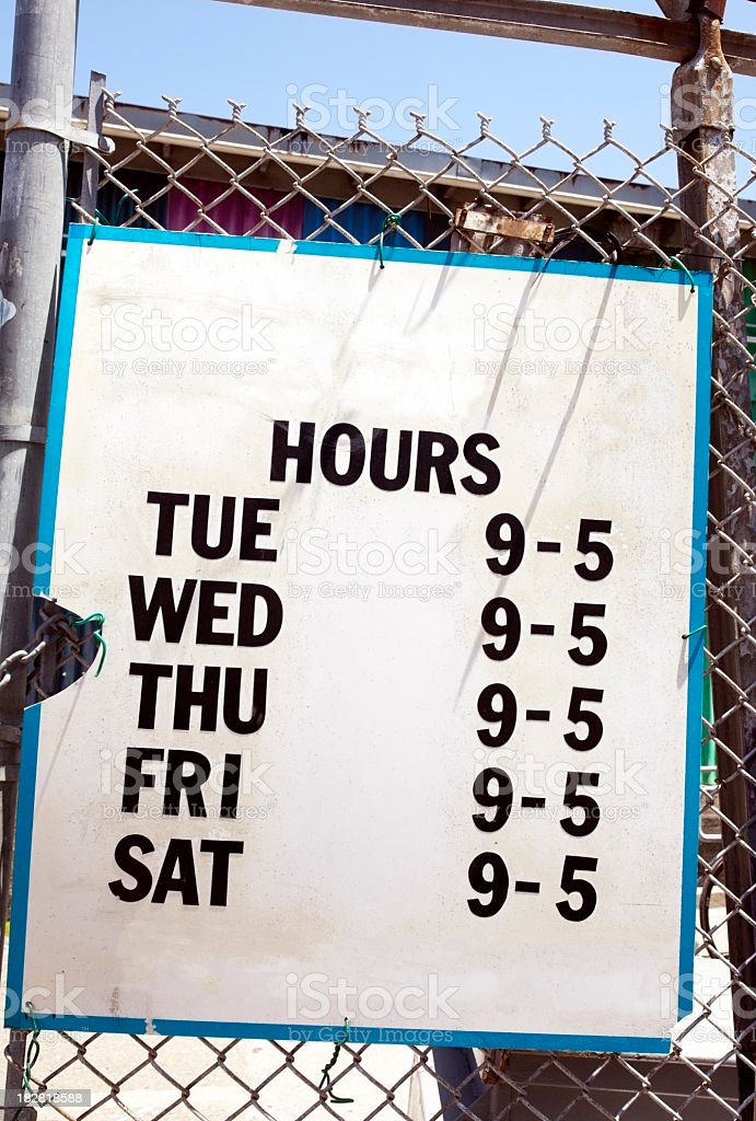 Junkyard Hours stock photo