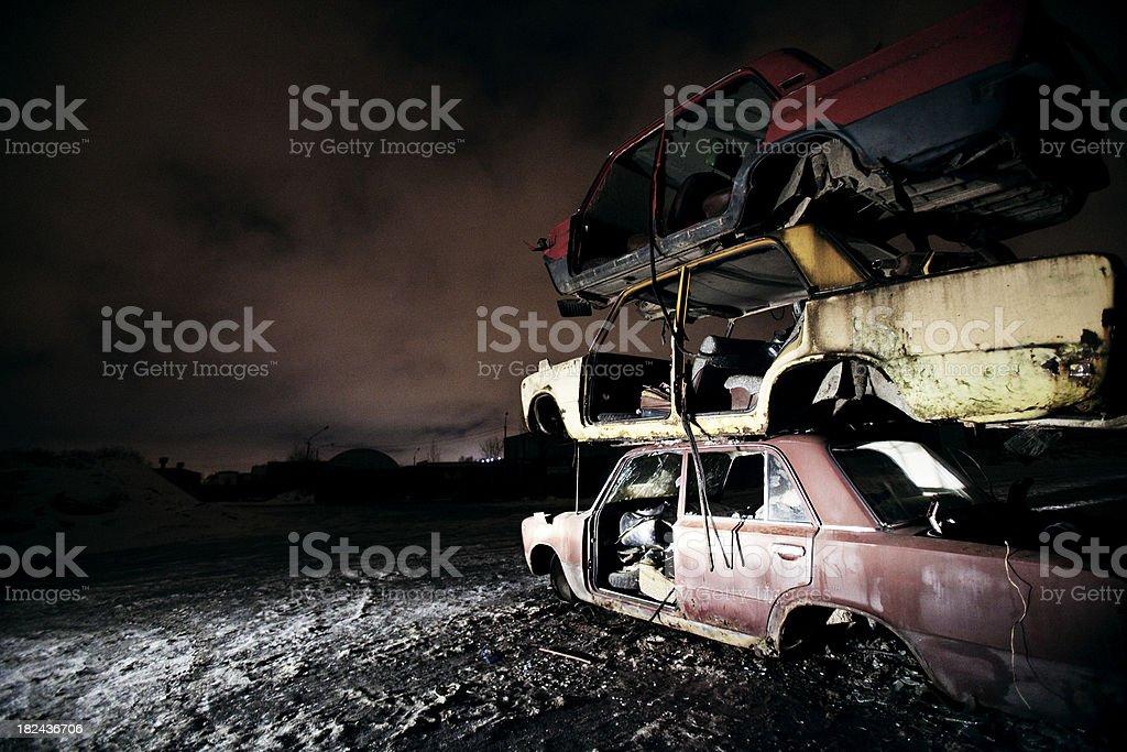 junkyard royalty-free stock photo