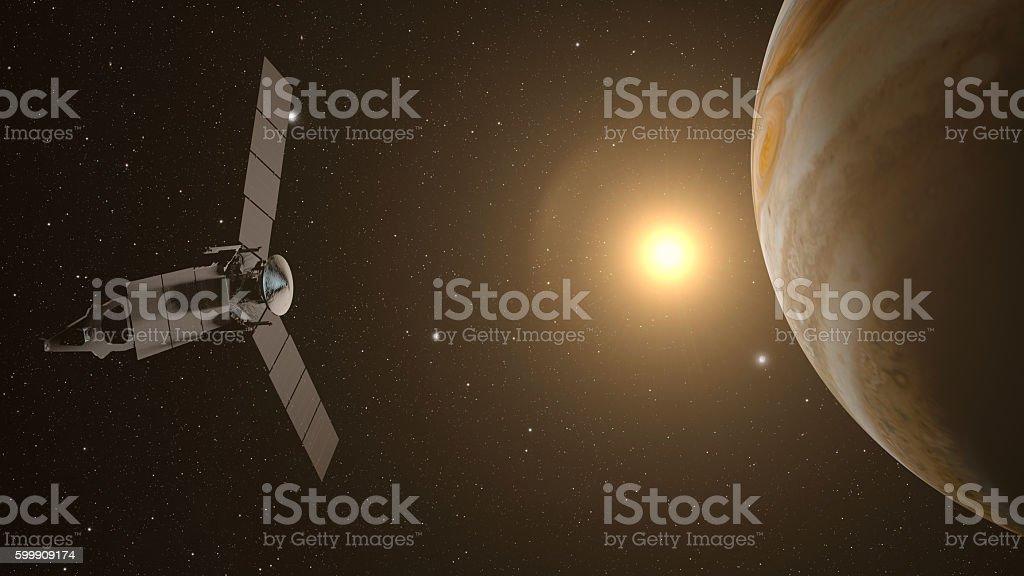 jupiter and satellite juno stock photo
