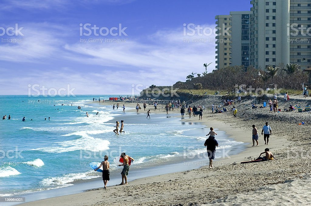 Jupiter Beach stock photo