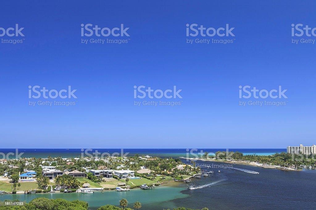 Jupiter Inlet View royalty-free stock photo