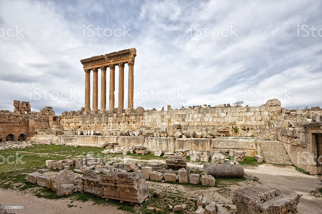 Jupiter Temple, Baalbek, Bekaa Valley, Lebanon royalty-free stock photo