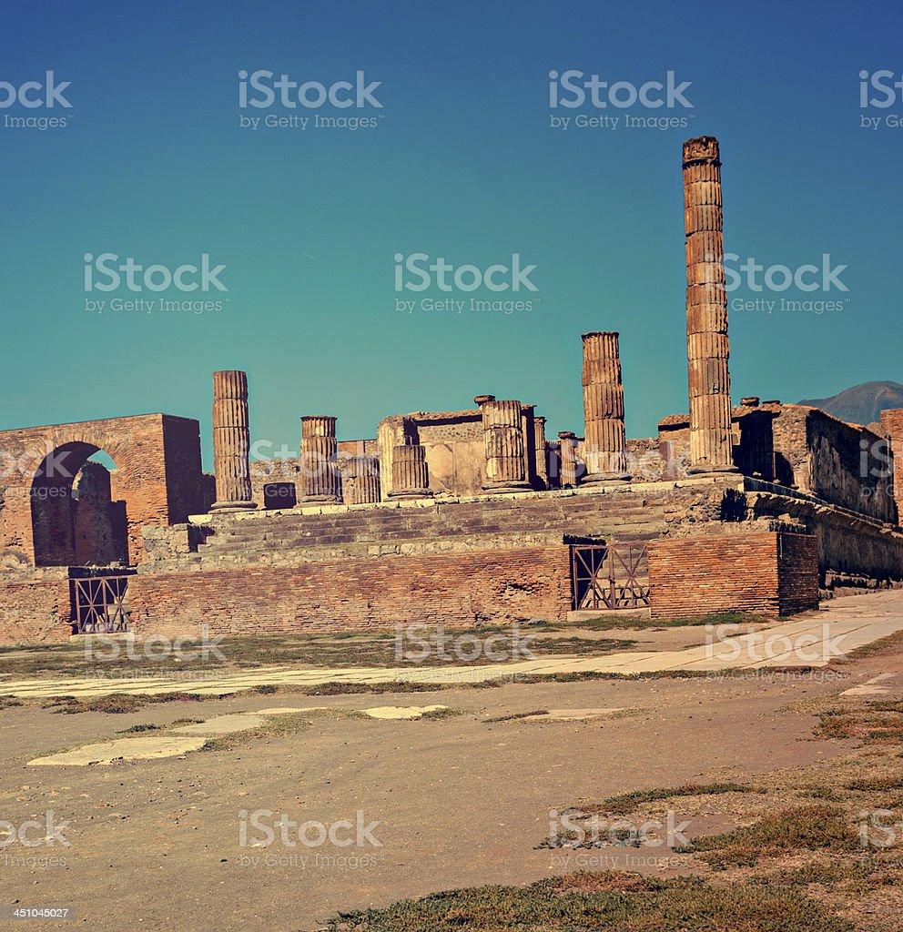 Jupiter temple in Pompeii royalty-free stock photo