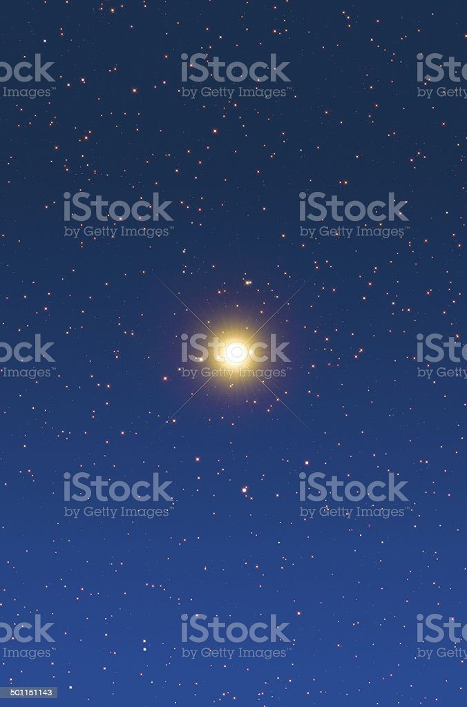 Jupiter Through a Telescope royalty-free stock photo