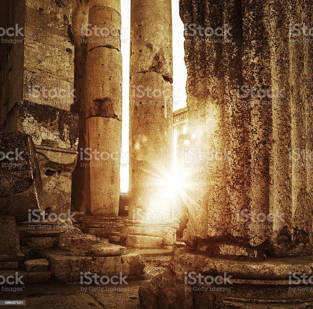 Jupiter's temple  Baalbek, Lebanon stock photo