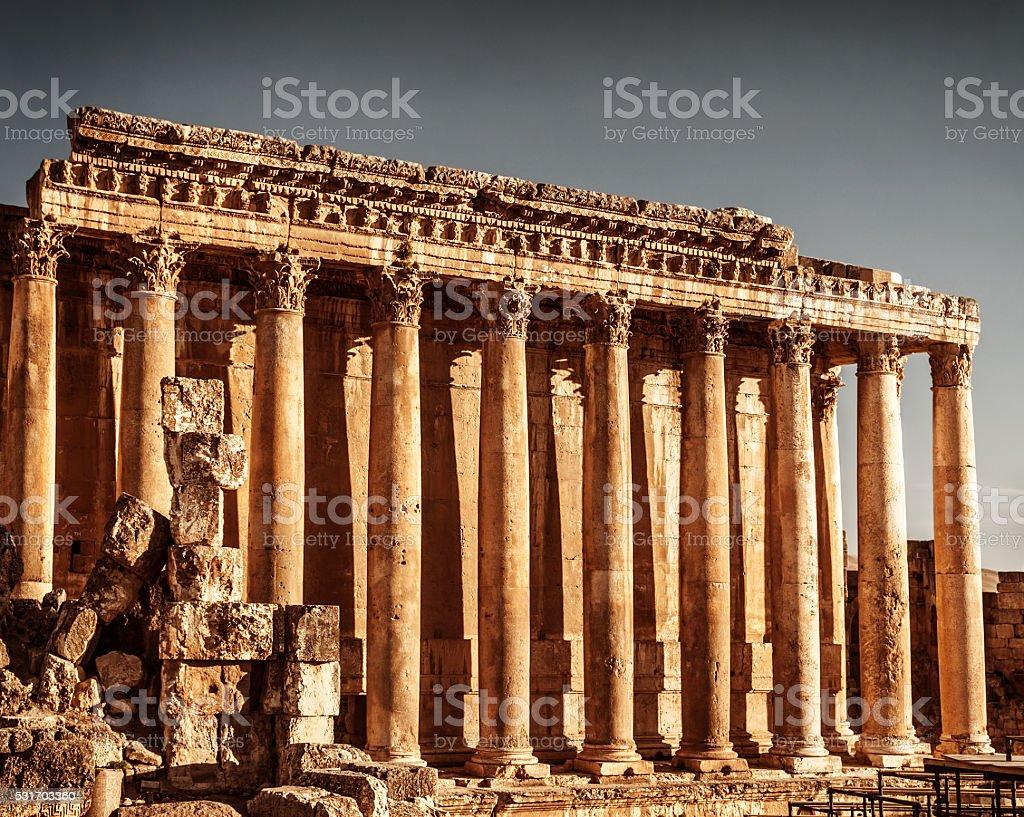 Jupiter's temple, Baalbek, Lebanon stock photo