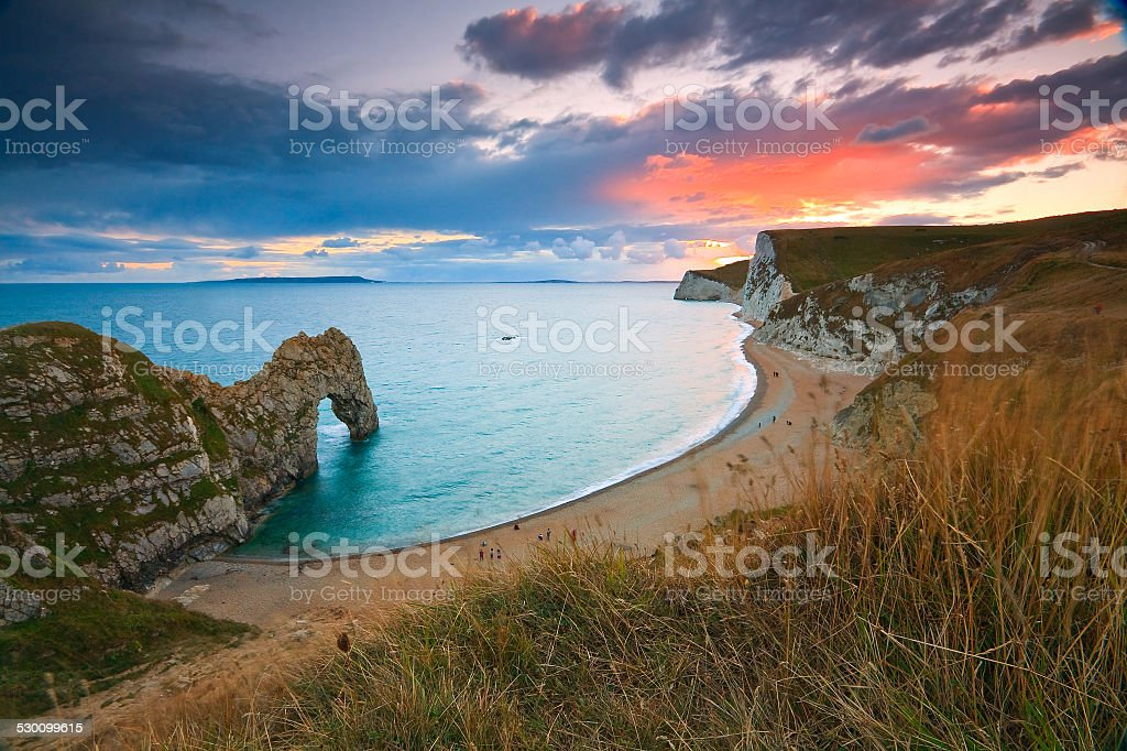 Jurassic coast in Dorset, UK. stock photo