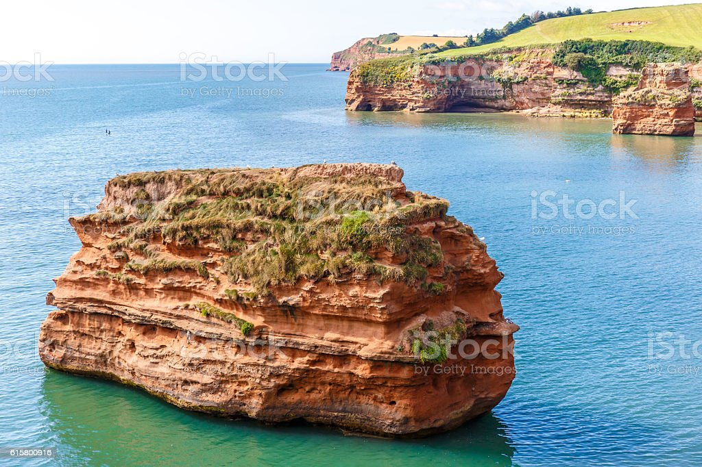 Jurassic Coast in summer stock photo