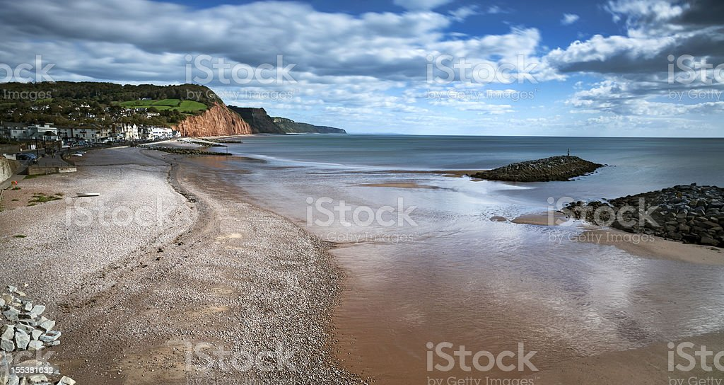 Jurassic Coast:  Sidmouth, Devon stock photo
