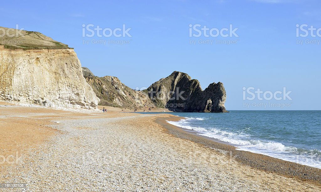 Jurassic Coast with Durdle Door royalty-free stock photo