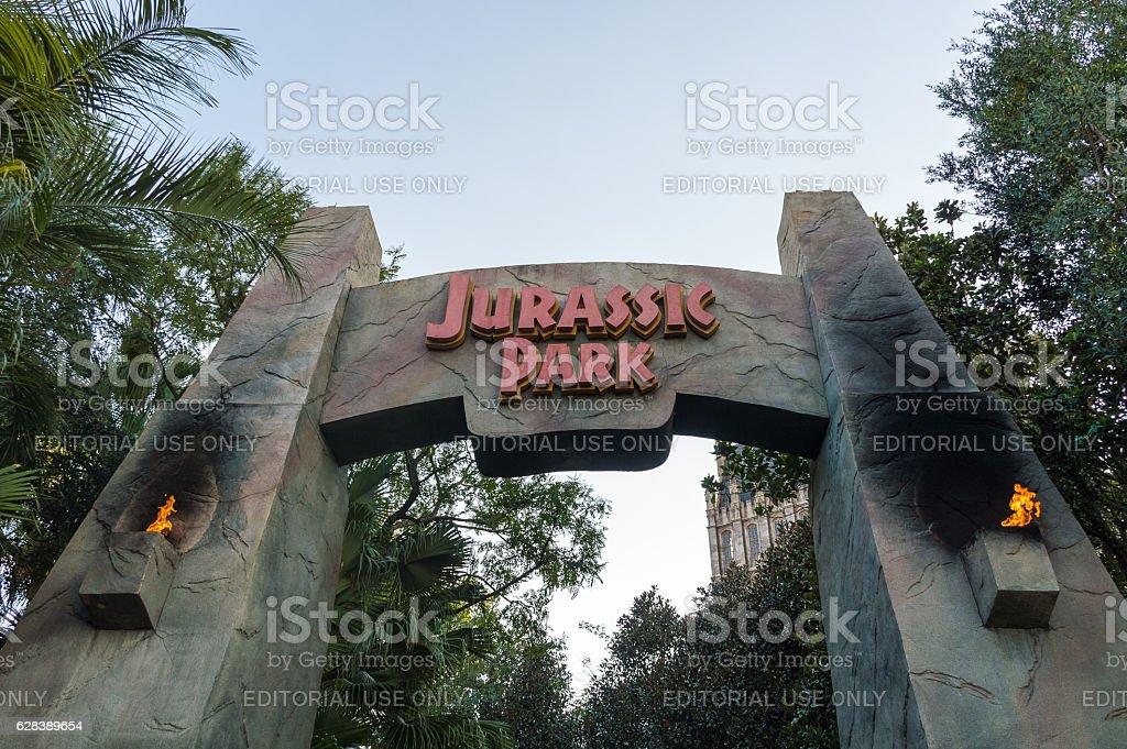 Jurassic Park Ride stock photo