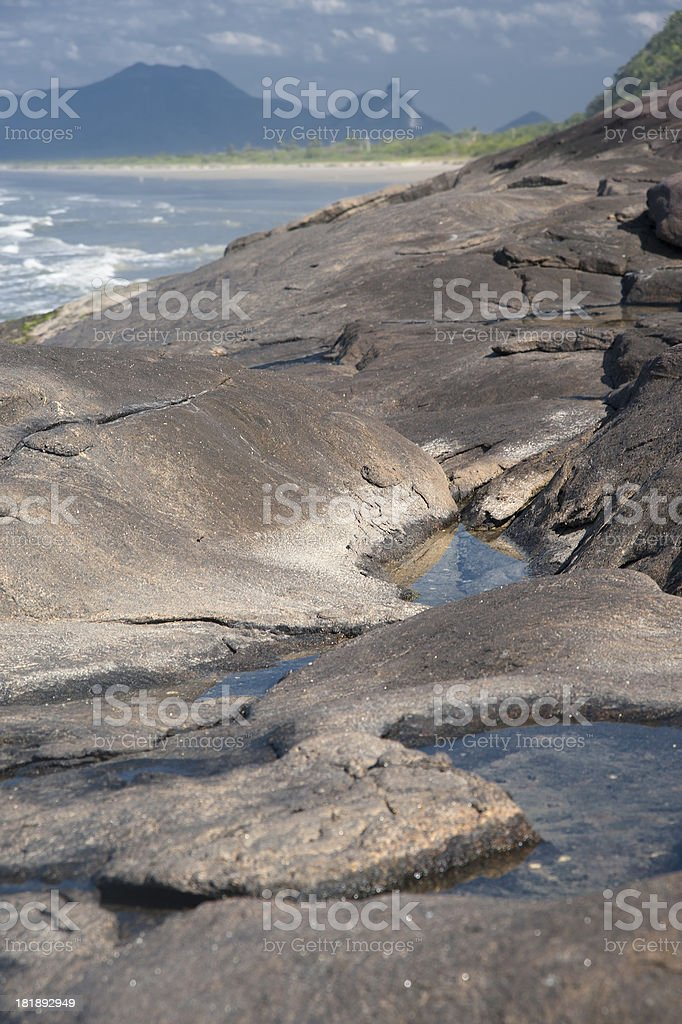 Jureia Landscape royalty-free stock photo