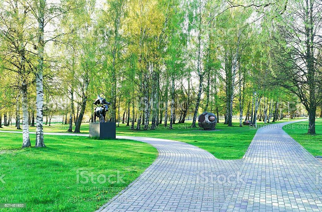 Jurmalas Park in Ventspils in Latvia stock photo