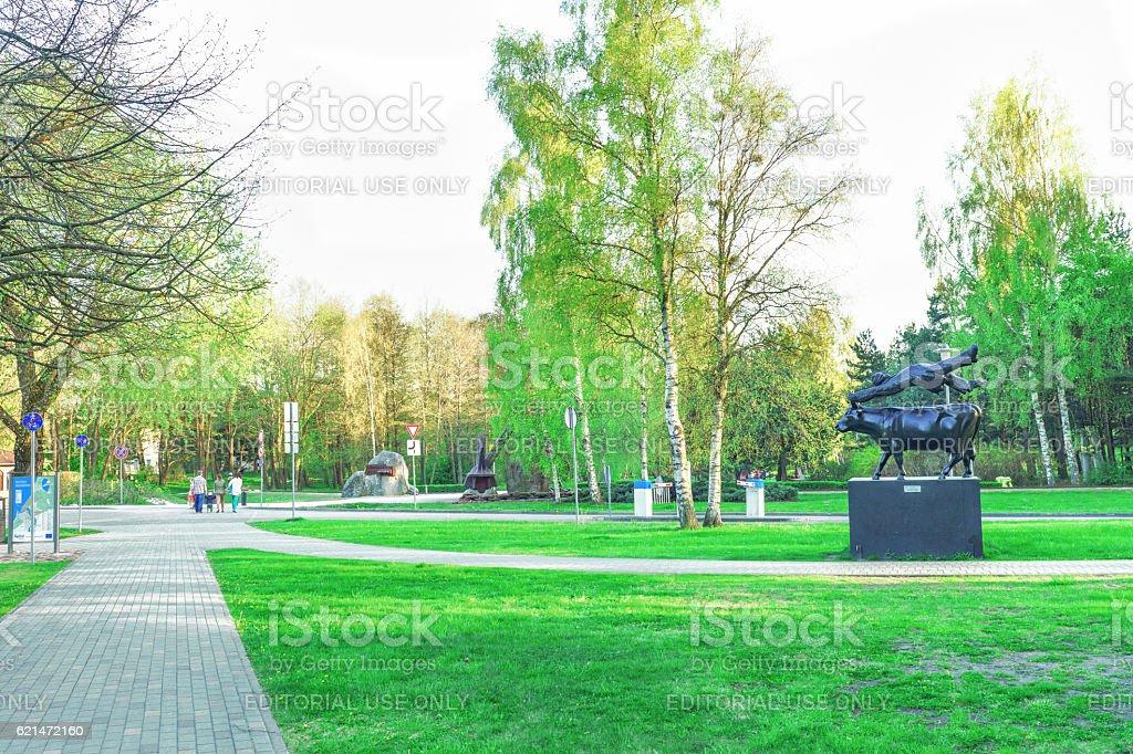 Jurmalas Park in Ventspils of Latvia stock photo