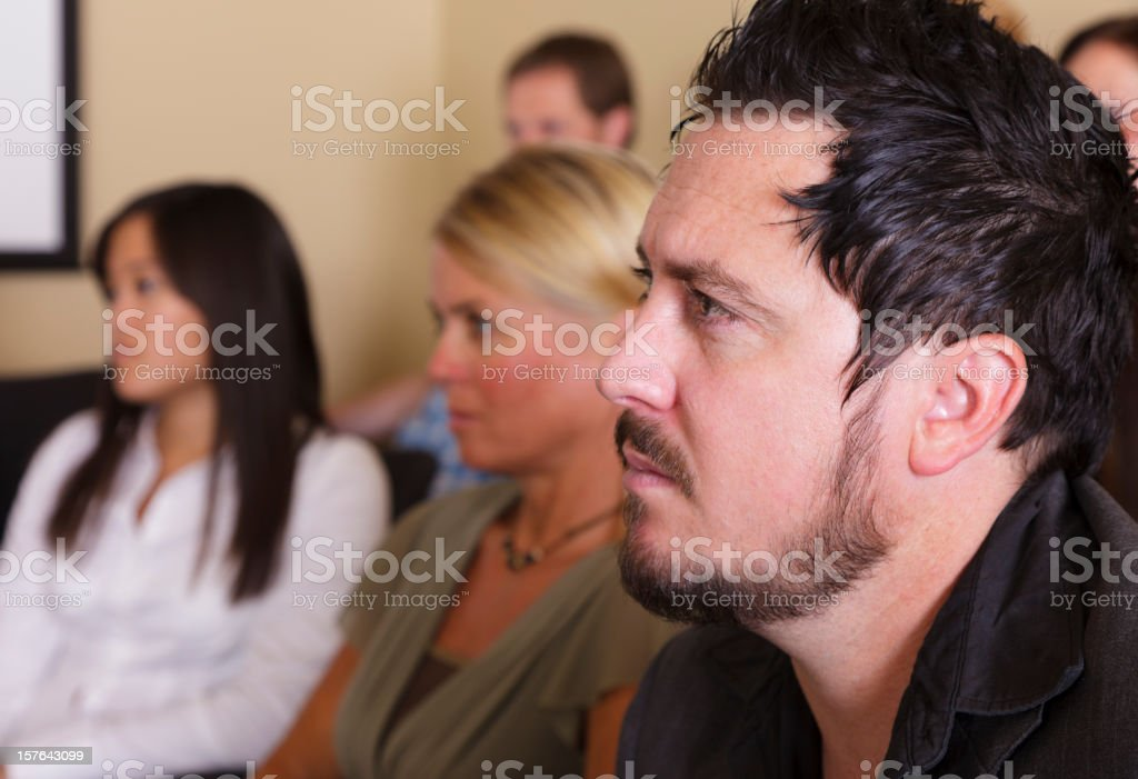 Jurors in a Courtroom royalty-free stock photo