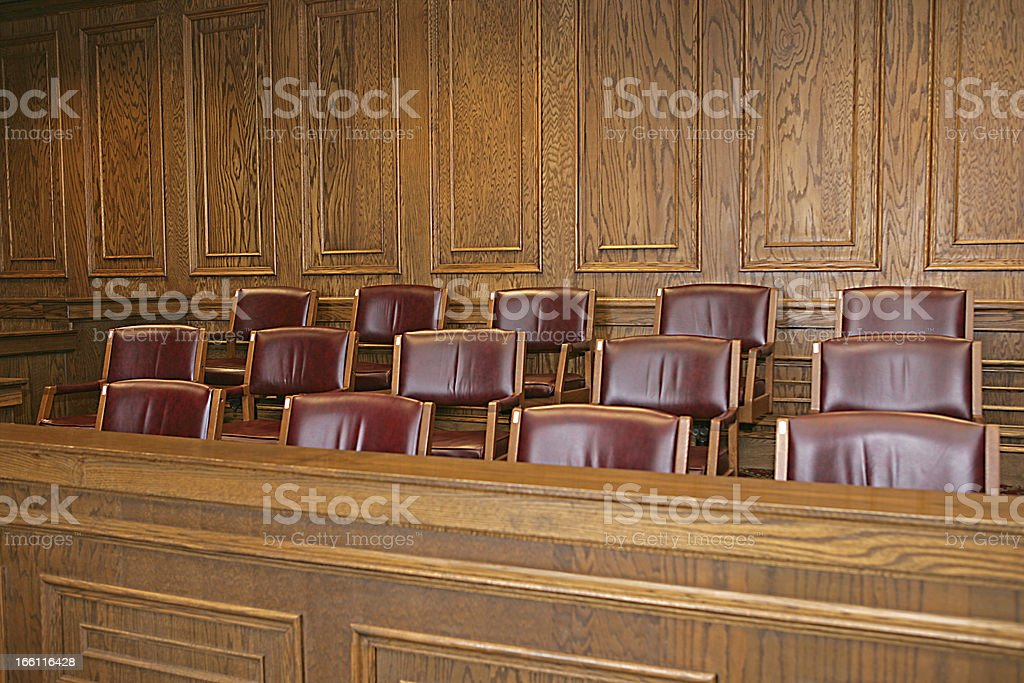 Jury Box stock photo