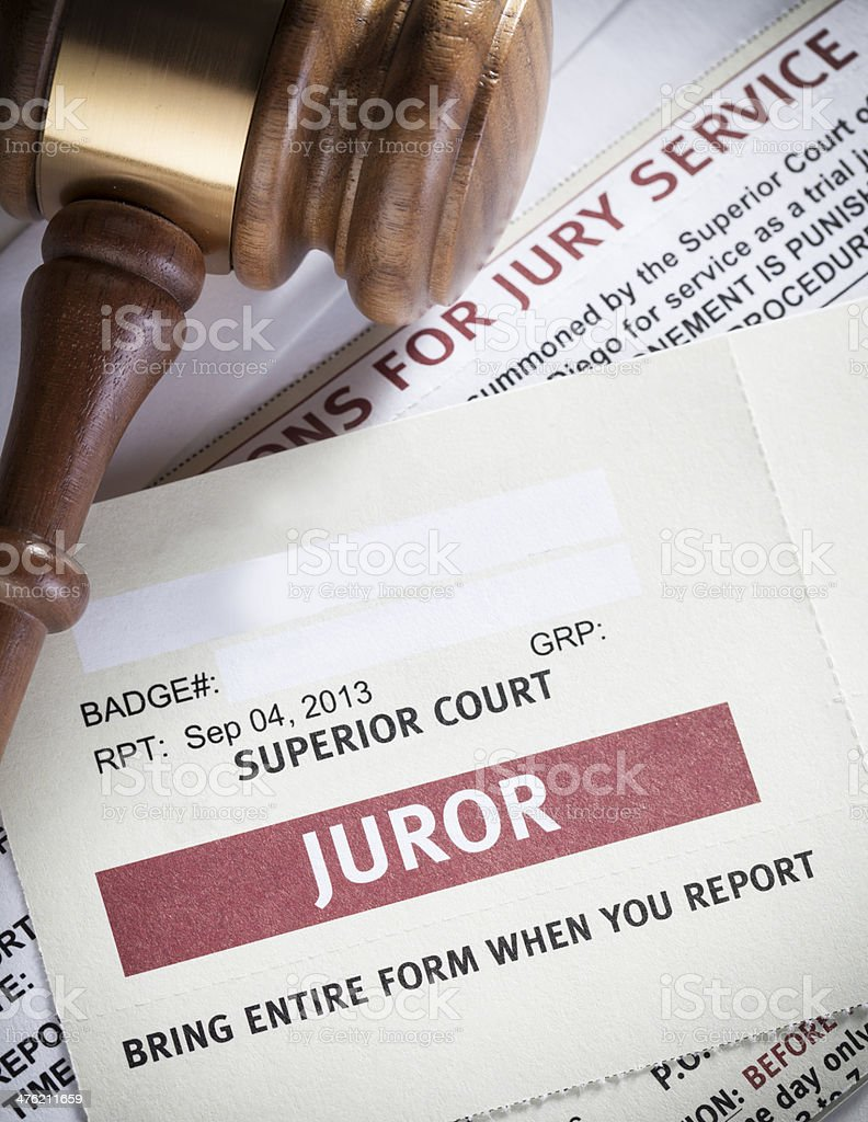 Jury Duty stock photo