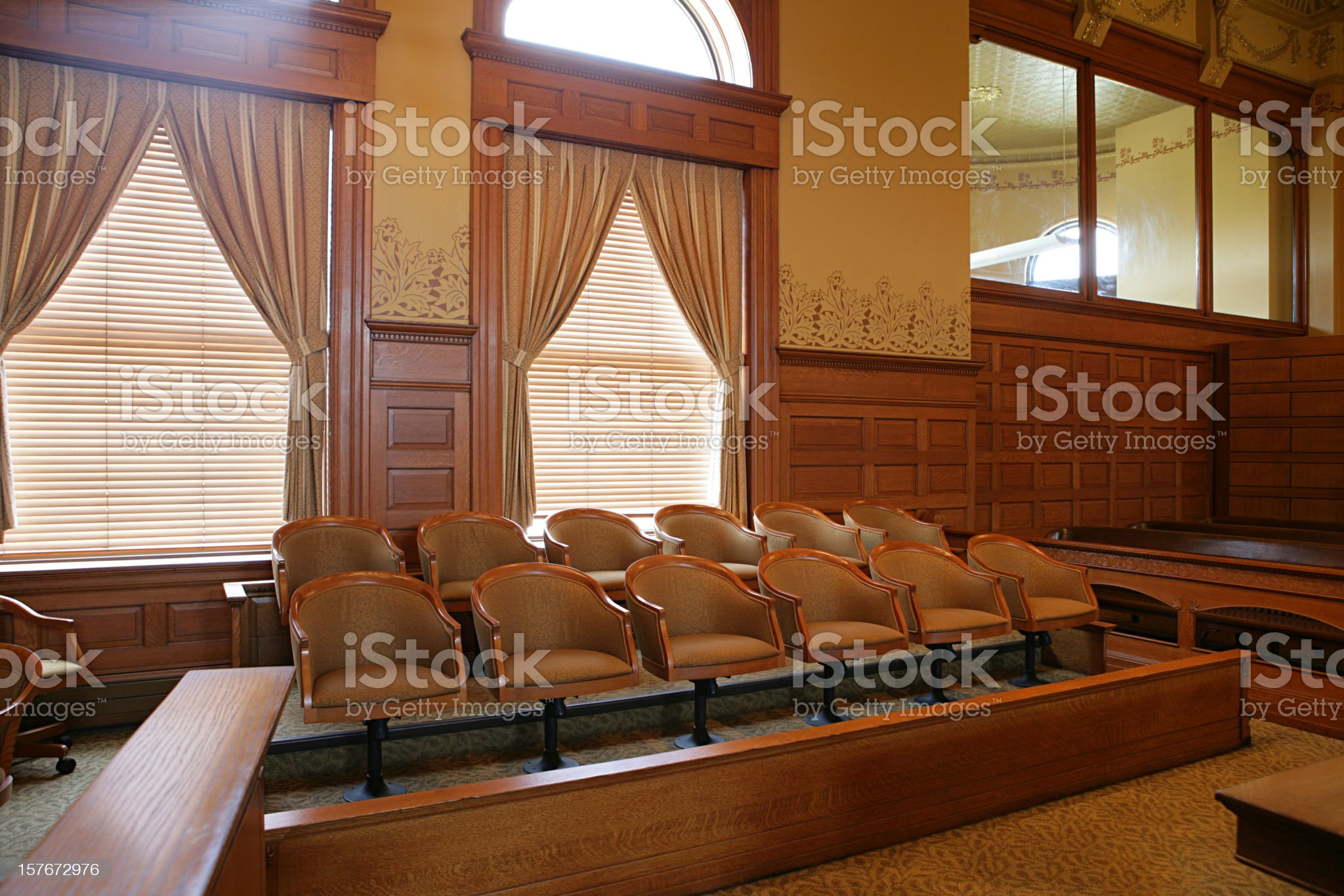 Jury Seats royalty-free stock photo