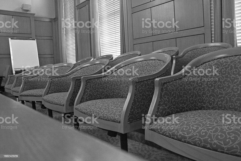 Jury Selection BW royalty-free stock photo