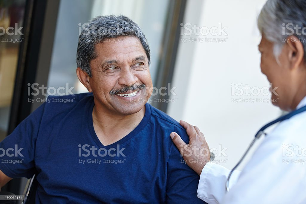 Just a chat with the doctor stock photo