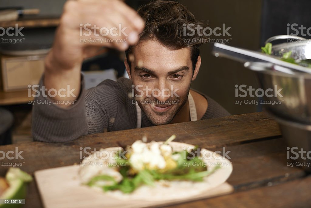 Just a dash of secret ingredient stock photo