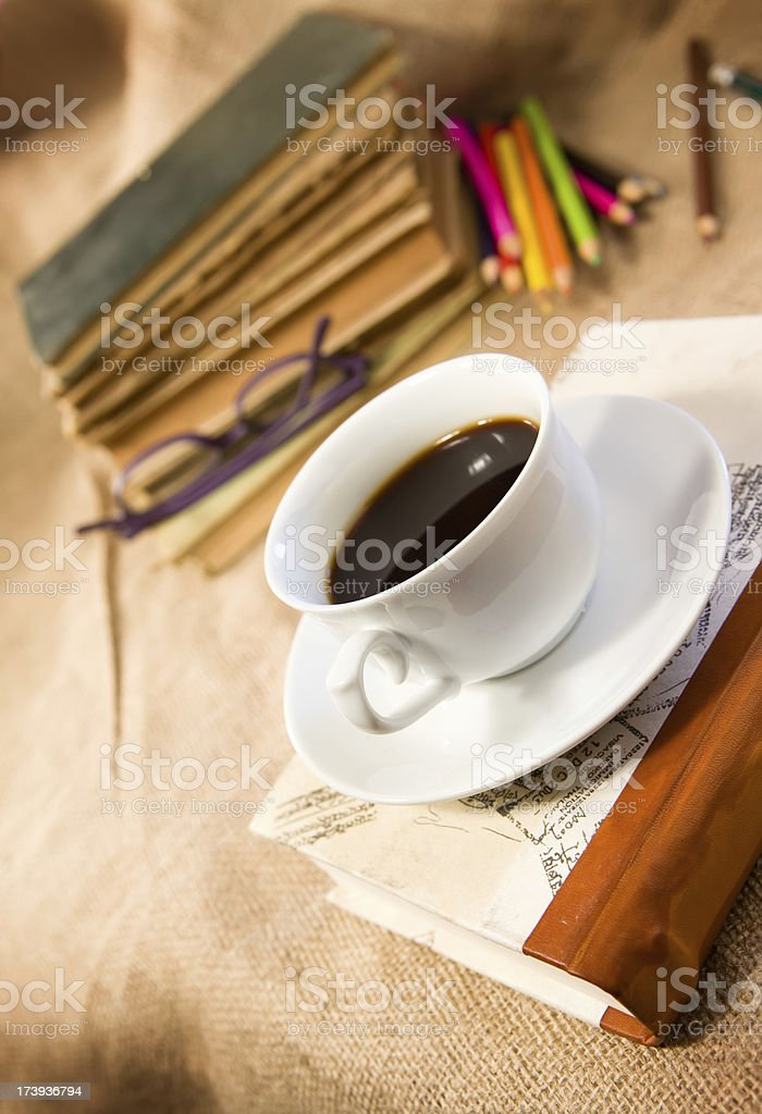 Just a little coffee break royalty-free stock photo