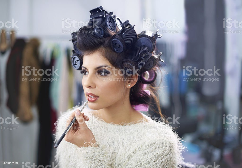 Just a little touch up stock photo