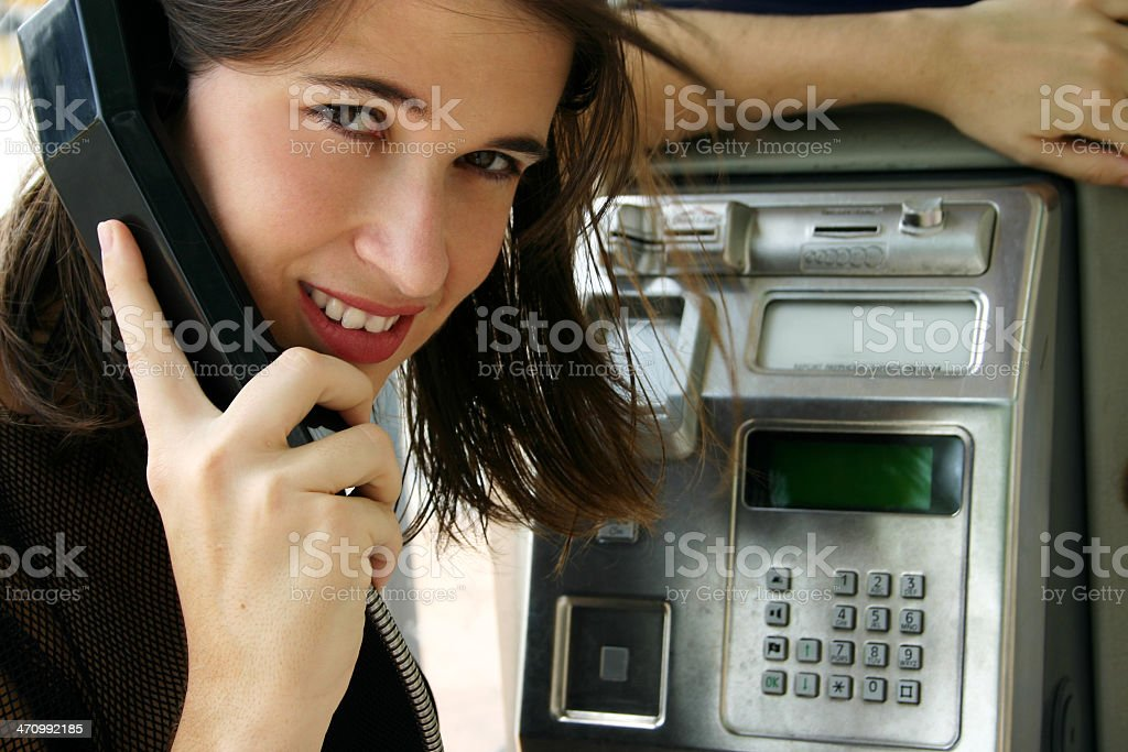 Just a Phone Call Away royalty-free stock photo