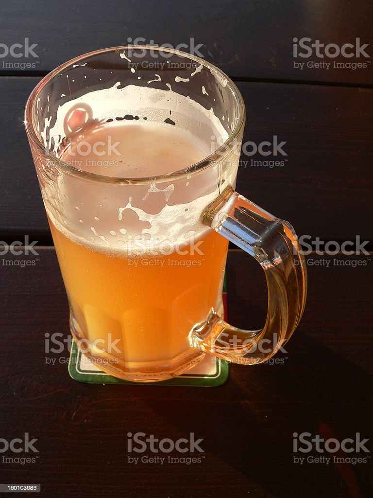 Just a pint of beer royalty-free stock photo