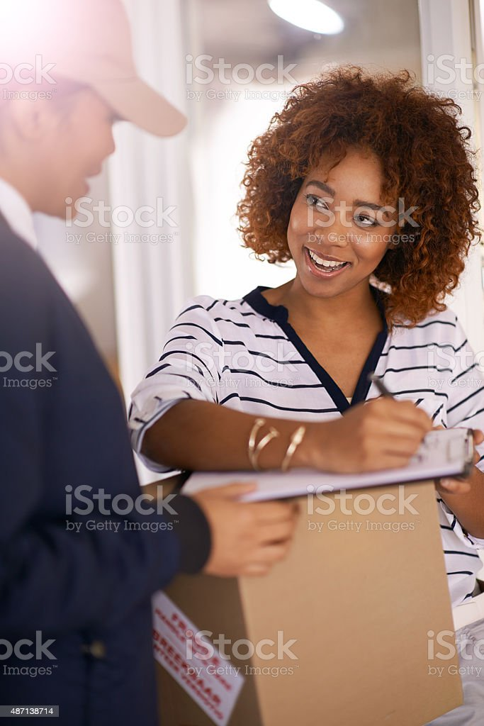 Just a signature to complete the deal stock photo