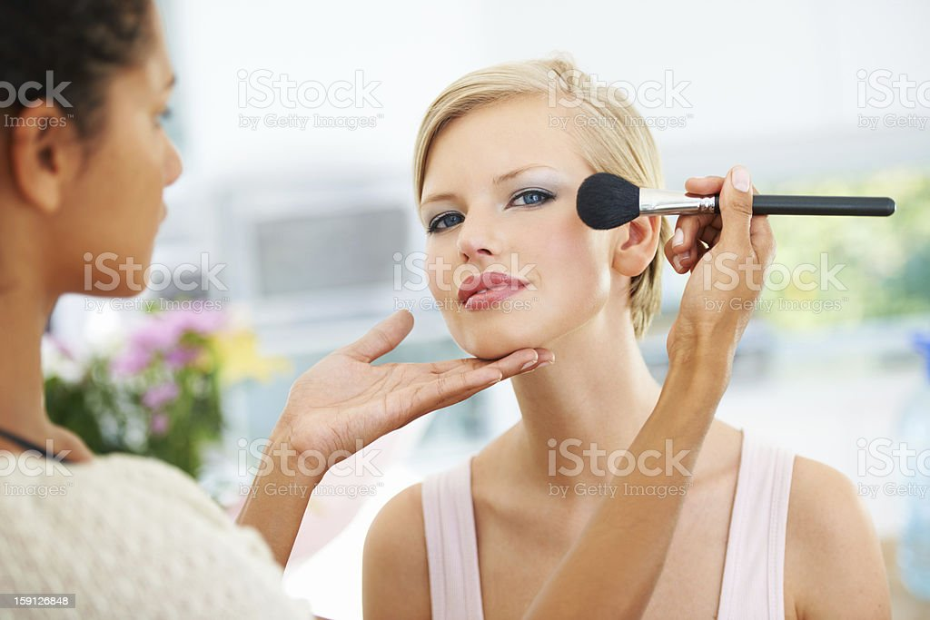 Just a small touchup stock photo