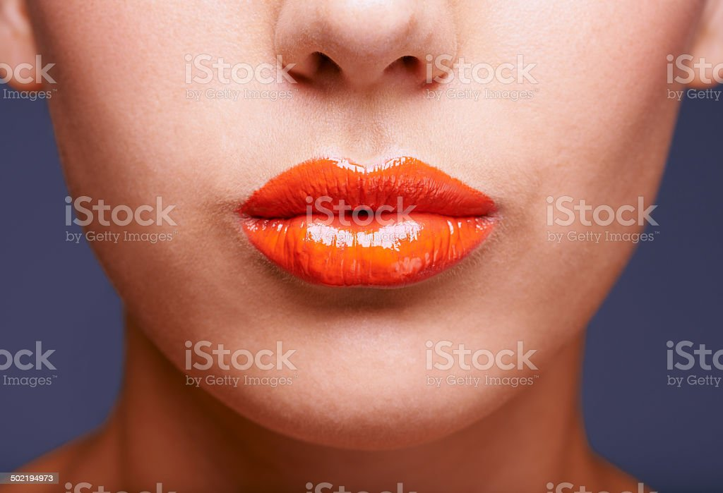 Just a touch of tangerine stock photo