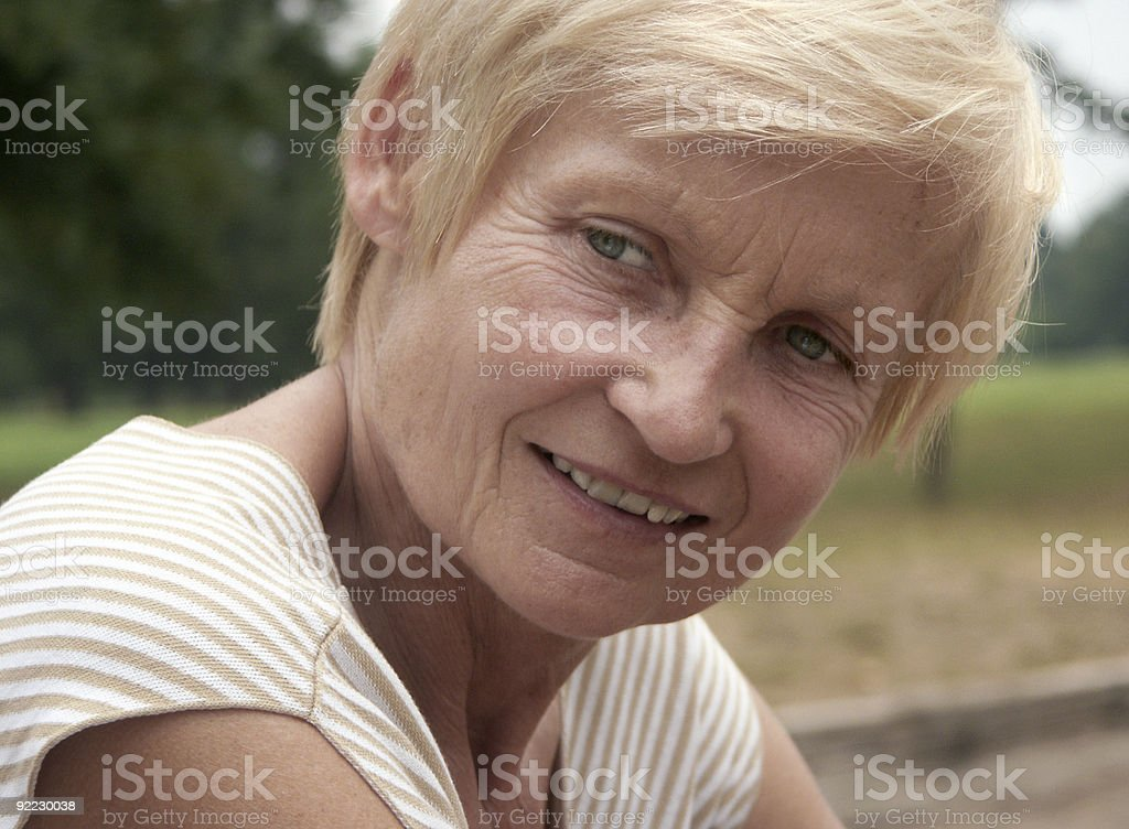 Just a woman royalty-free stock photo