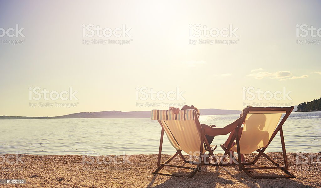 Just another day in paradise... stock photo
