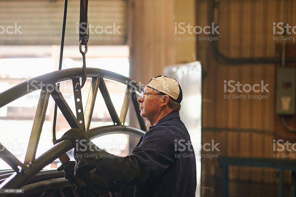 Just another day in the workshop stock photo