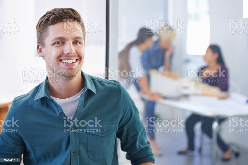 Just another pleasant day at the office royalty-free stock photo