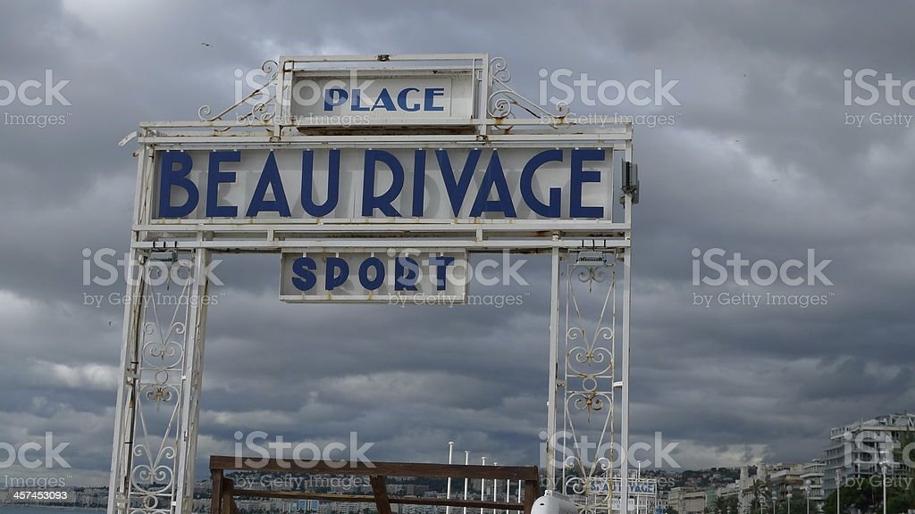 Just Beau Rivage. Nice (fr) stock photo