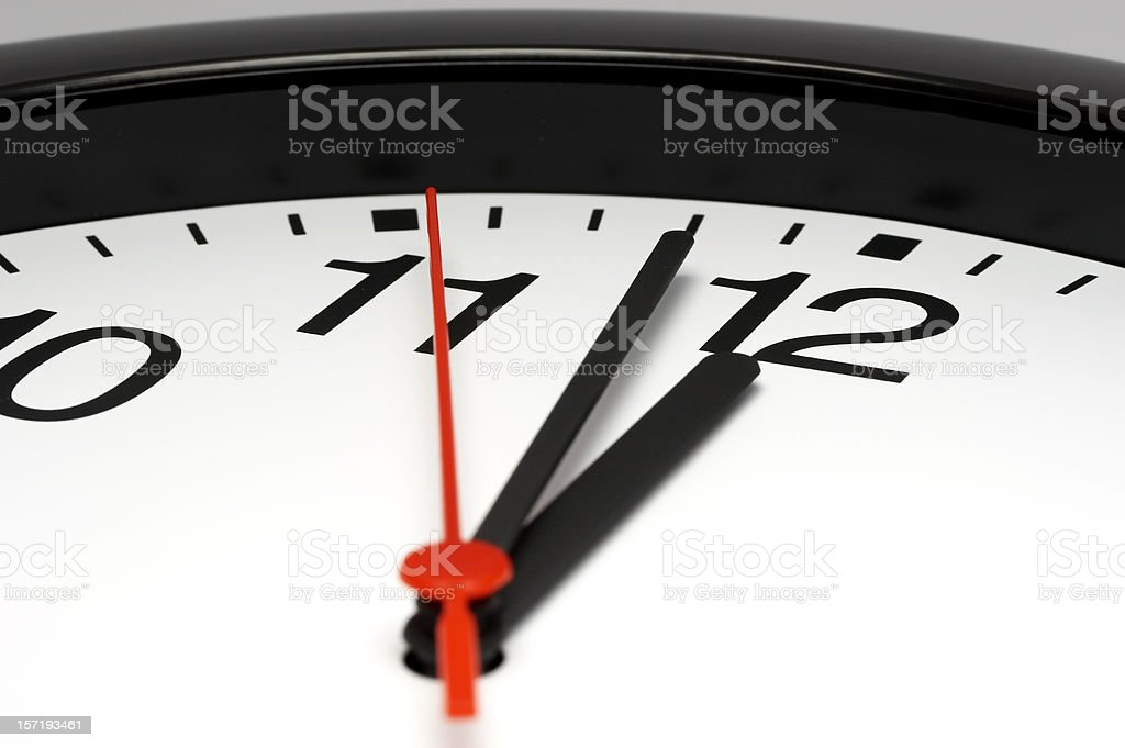 Just before deadline royalty-free stock photo