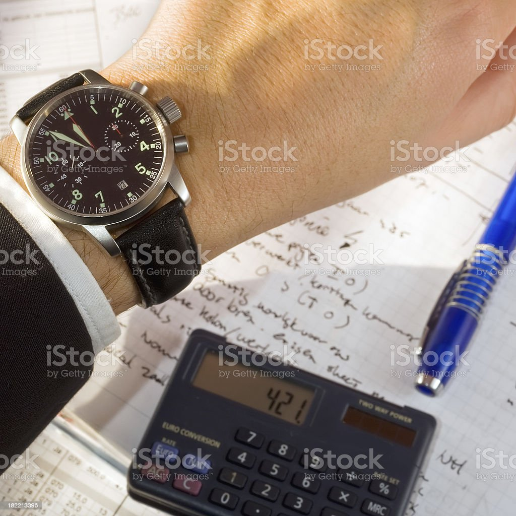 Just before the deadline stock photo
