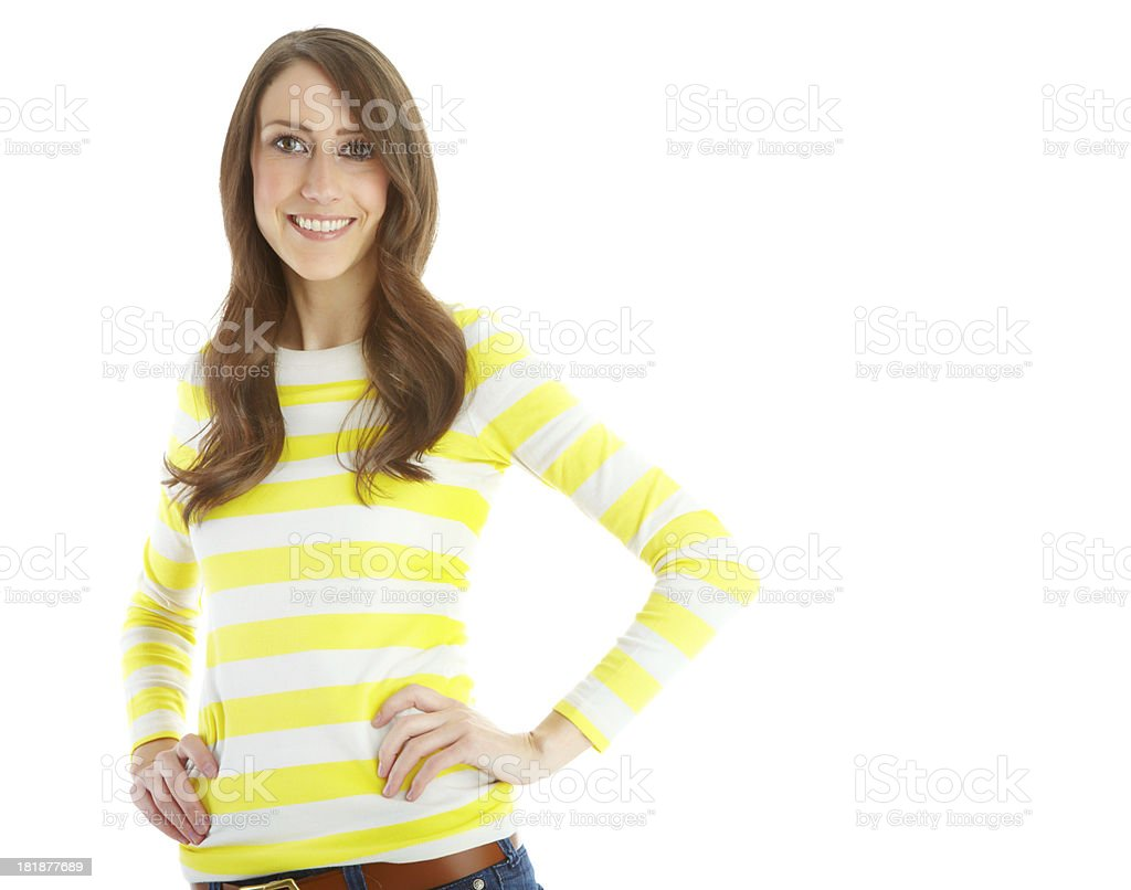 Just being herself royalty-free stock photo