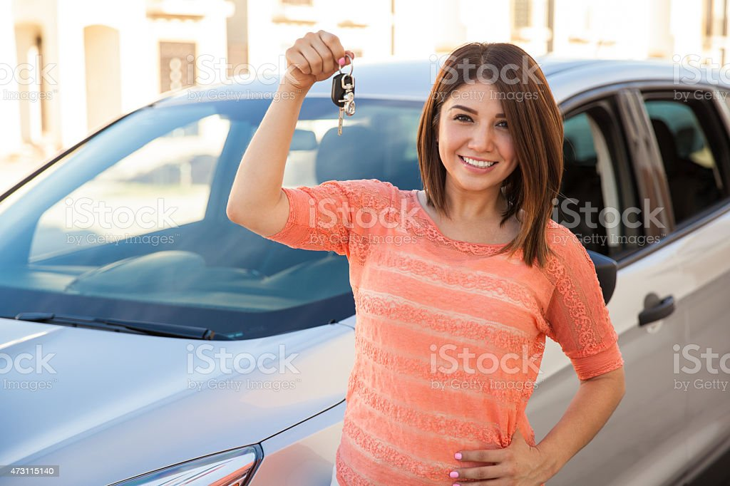 I just bought a car! stock photo