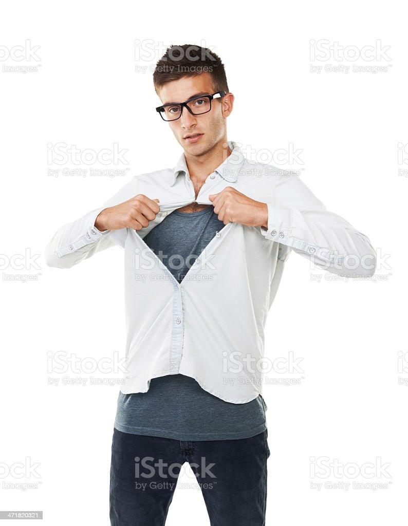 Just call me Clark Kent royalty-free stock photo